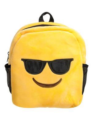 Рюкзак Смайлик Крутой Lovely Joy. Цвет: желтый