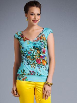Блузка Арт-Деко. Цвет: голубой