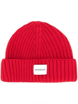 Трикотажная шапка Dondup. Цвет: красный