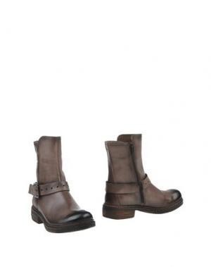 Полусапоги и высокие ботинки MANAS. Цвет: голубиный серый