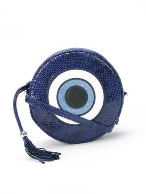 Круглая сумка Olho grego Skinbiquini. Цвет: синий