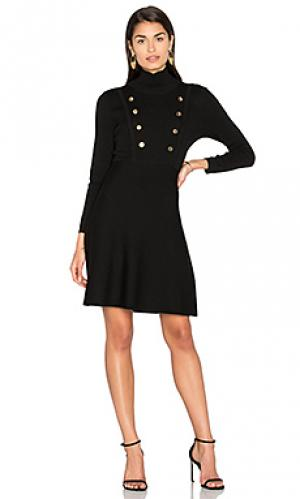 Мини платье с двубортным воротом 525 america. Цвет: черный