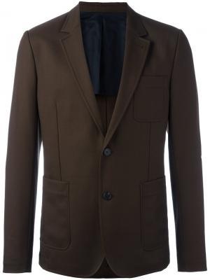 Half lined 2 button jacket Ami Alexandre Mattiussi. Цвет: коричневый