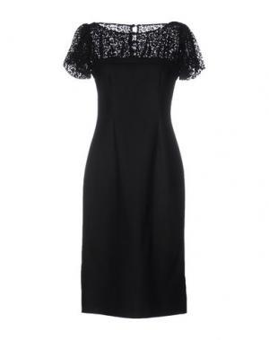 Платье до колена LUISA BECCARIA. Цвет: черный