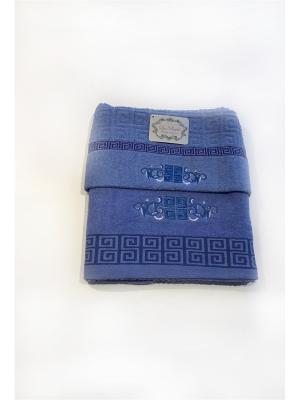 Комплект полотенец 2 предмета. La Pastel. Цвет: синий