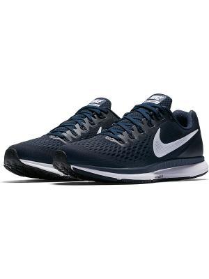 Кроссовки AIR ZOOM PEGASUS 34 Nike. Цвет: синий, индиго
