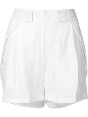 Классические шорты Shades Of Grey By Micah Cohen. Цвет: белый