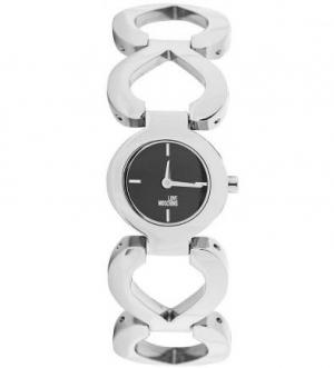 Часы с металлическим браслетом серебристого цвета Moschino
