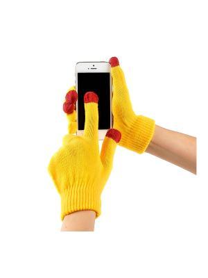 Перчатки GREZZO. Цвет: желтый