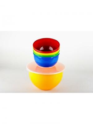 Solaris S1405 набор посуды: 4 миски 1,0л в контейнере. Цвет: синий, красный, желтый