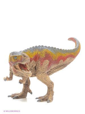 Динозавр. Тиранозаурус, мал. SCHLEICH. Цвет: зеленый, рыжий, серый