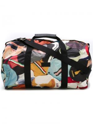Спортивная сумка с принтом кепок Paul Smith. Цвет: многоцветный