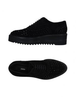Обувь на шнурках ZINDA. Цвет: черный