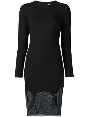 Платье с длинными рукавами Murmur. Цвет: чёрный
