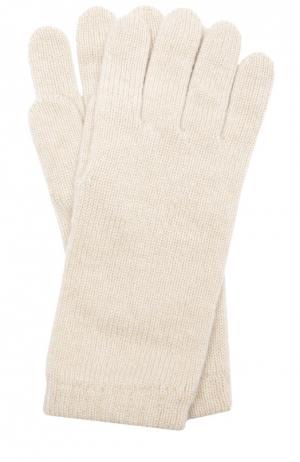 Вязаные перчатки из кашемира Johnstons Of Elgin. Цвет: светло-бежевый