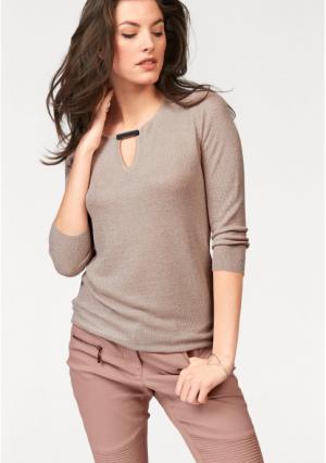 Пуловер VIVANCE. Цвет: розовый