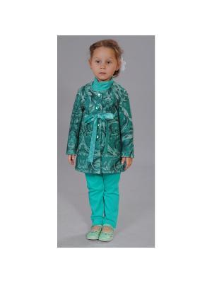 Пальто Fleur de Vie. Цвет: зеленый