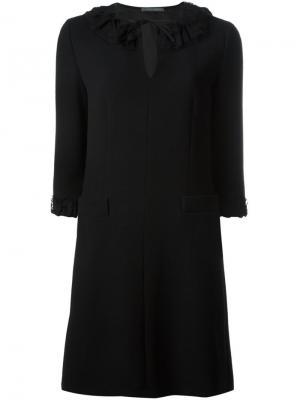 Платье с рукавами три четверти Alberta Ferretti. Цвет: чёрный