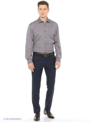 Рубашка мужская с длинным рукавом в полоску Mr. Marten. Цвет: серый
