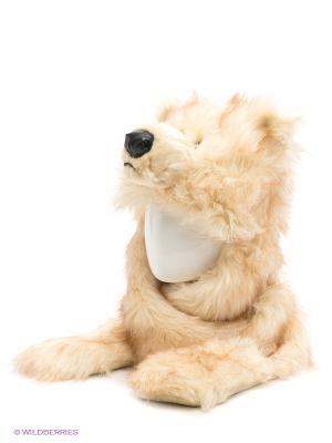 Шапка True Fur. Цвет: молочный, коричневый