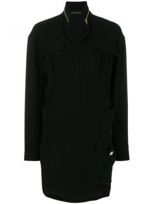 Платье карго кроя слим Alexandre Vauthier. Цвет: чёрный