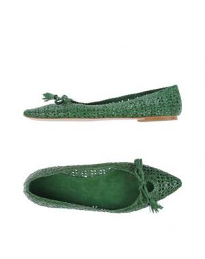 Балетки FABIO RUSCONI. Цвет: зеленый