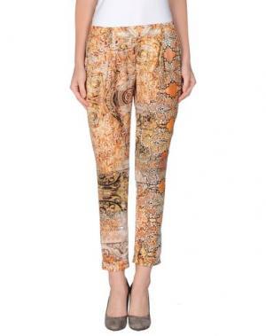 Повседневные брюки SILK AND SOIE. Цвет: оранжевый