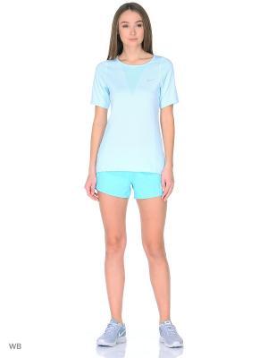 Шорты W NK FLX SHORT 3IN RIVAL Nike. Цвет: голубой, серебристый