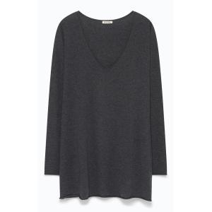 Пуловер с V-образным вырезом BLOSSOM AMERICAN VINTAGE. Цвет: антрацит,зеленый