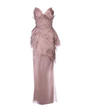 Длинное платье ERMANNO SCERVINO. Цвет: телесный