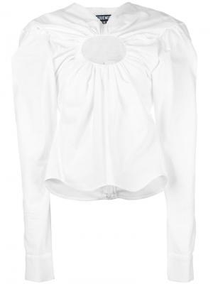 Блузка с вырезной деталью Jacquemus. Цвет: белый