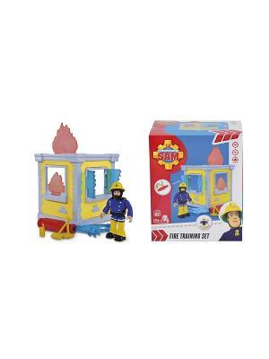 Пожарный Сэм, Маленькая тренировочная база + 1 фигурка, 14см, 24/24 Simba. Цвет: красный, синий