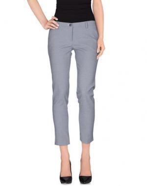 Повседневные брюки BRUNO MANETTI. Цвет: грифельно-синий