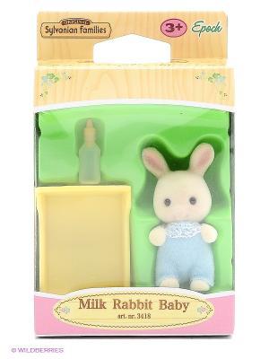 Набор Малыш Молочный Кролик Sylvanian Families. Цвет: бежевый, прозрачный, желтый