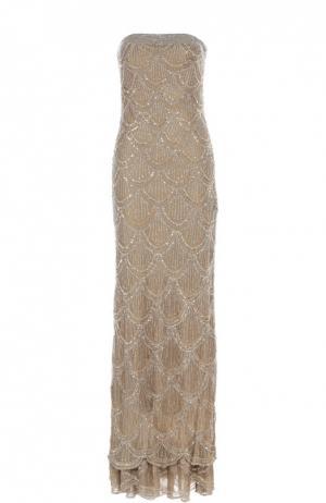 Вечернее платье Basix Black Label. Цвет: серебряный