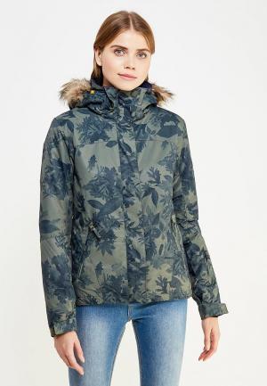 Куртка горнолыжная Roxy. Цвет: зеленый