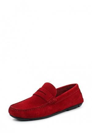 Мокасины Bata. Цвет: красный