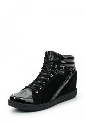 Кеды на танкетке Versace Jeans. Цвет: черный