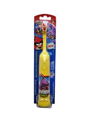 Детская зубная щетка Longa Vita. Цвет: фиолетовый