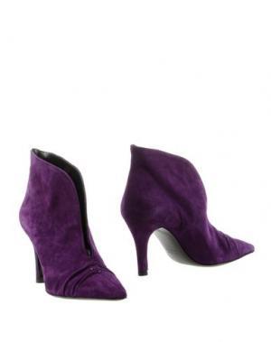 Полусапоги и высокие ботинки ENRICO LUGANI. Цвет: фиолетовый