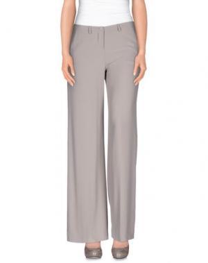 Повседневные брюки HANITA. Цвет: голубиный серый
