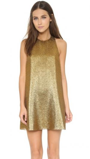Расклешенное платье Harrison alice + olivia. Цвет: коричневый