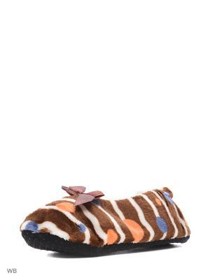 Носки-тапочки ИП Тарнавский С.И.. Цвет: коричневый
