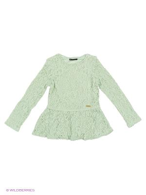 Блузка Sisley Young. Цвет: светло-зеленый