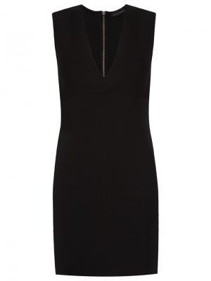 Платье без рукавов с V-образным вырезом Giuliana Romanno. Цвет: чёрный
