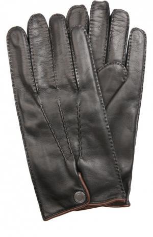 Перчатки Cortigiani. Цвет: черный