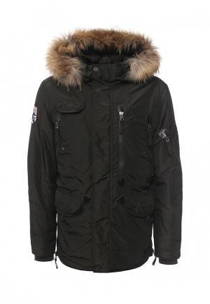 Куртка утепленная Baon. Цвет: хаки