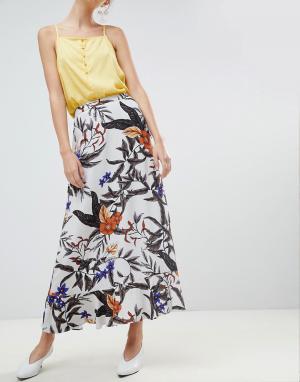 Gestuz Длинная юбка с цветочным принтом. Цвет: мульти