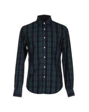 Pубашка VINTAGE 55. Цвет: темно-зеленый
