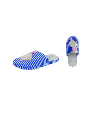 Тапочки De Fonseca. Цвет: синий, белый